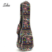 "21"" 23"" 26'' Ukulele Instrument Bags Ukelele Bag With Double Shoulder Strap Bag Canvas Guitar Bags & Cases National Wind(China)"