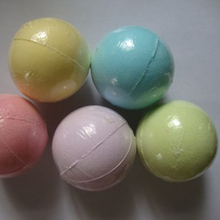 Color Random 1 pcs Natural Bubble Bath Bomb Ball Essential Oil Handmade SPA Bath salt 40g(China)