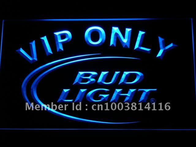 092 Bud Light VIP Only Bar Beer LED Neon Sign with On/Off Switch 7 Colors 4 Sizes to choose(China)