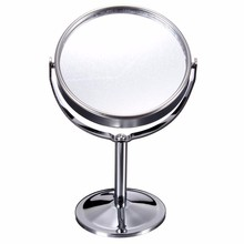 6 inch 2x Magnifying Mirror Double Sided Circle Make Up Mirror Metal Stainless Steel Small Round Desktop Table Cosmetic Mirror(China)