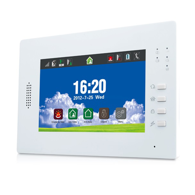 7 inch Touch Screen GSM Alarm DIY System with 868Mhz Wireless Home Security Alarm Backup Battery Free Android & iOS APP Control_0