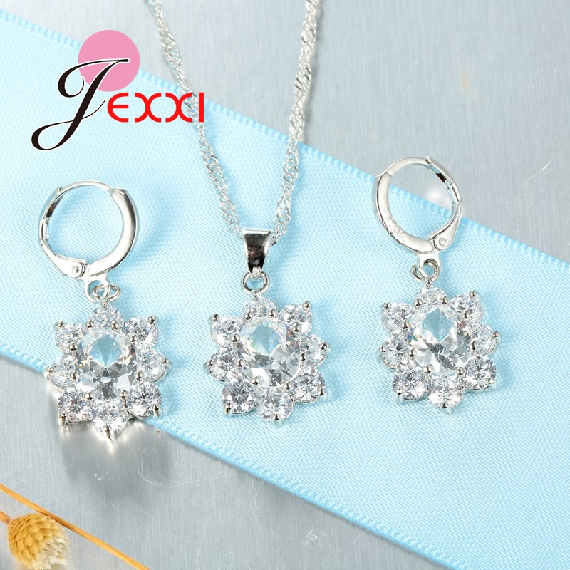 JEXXI-Retro-Vintage-Jewelry-Sets-For-Women-Oval-Flower-Crystal-Necklace-Earrings-Pendant-Fashion-Silver-Chain (3)