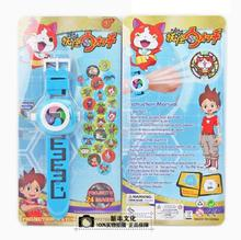 24 Projectors Anime Pocket Monster Yokai watch Wrist Watch action figures Yo-Kai Watch 3D projection Cartoon toys for children(China)
