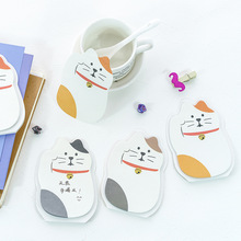 20 sets/1 lot Creative cat Memo Pad Sticky Notes Escolar Papelaria School Supply Bookmark Post it Label(China)