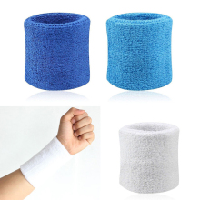 2Pcs Cotton Wristbands Wrist Band Bands Sweatbands Sweat Band for Sport Tennis