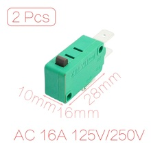 UXCELL 2Pcs Ac 16A 125V/250V Push Button Actuator Micro Limit Switch Kw3-0Z(China)