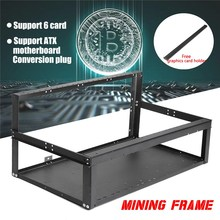 Buy 6 GPU Open Air Frame Mining Miner Rig Aluminum Case ATX MICRO-ATX BTC ETH Computer Chassis Miner Frame Case Unassembled for $18.39 in AliExpress store