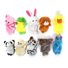 1pcs Hot sale Cartoon Animal Finger Puppet Plush Toys Children Favor Dolls(China)
