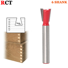 "1pc 14Degree 9"" Dovetail Joint Router Bit -6"" Shank Woodworking cutter Tenon Cutter for Woodworking Tools"