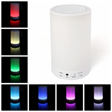 High quality Wireless Bluetooth Speakers Mini Portable Music Player with Colorful light TF Card(China)