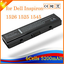 11.1V 5200mah 6cell Compatible Laptop Battery Replacement for Dell Inspiron 1526 1525 1545 gw240 rn873 m911g m911 x284g k450n(China)