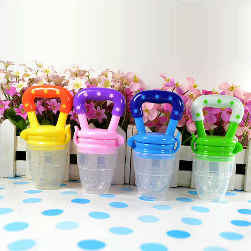 Colorful Baby Fruits And Vegetables Bite Bags Infant Teether Pacifier Reassure Chlidren Silicone Buckle Drinkers  (7)