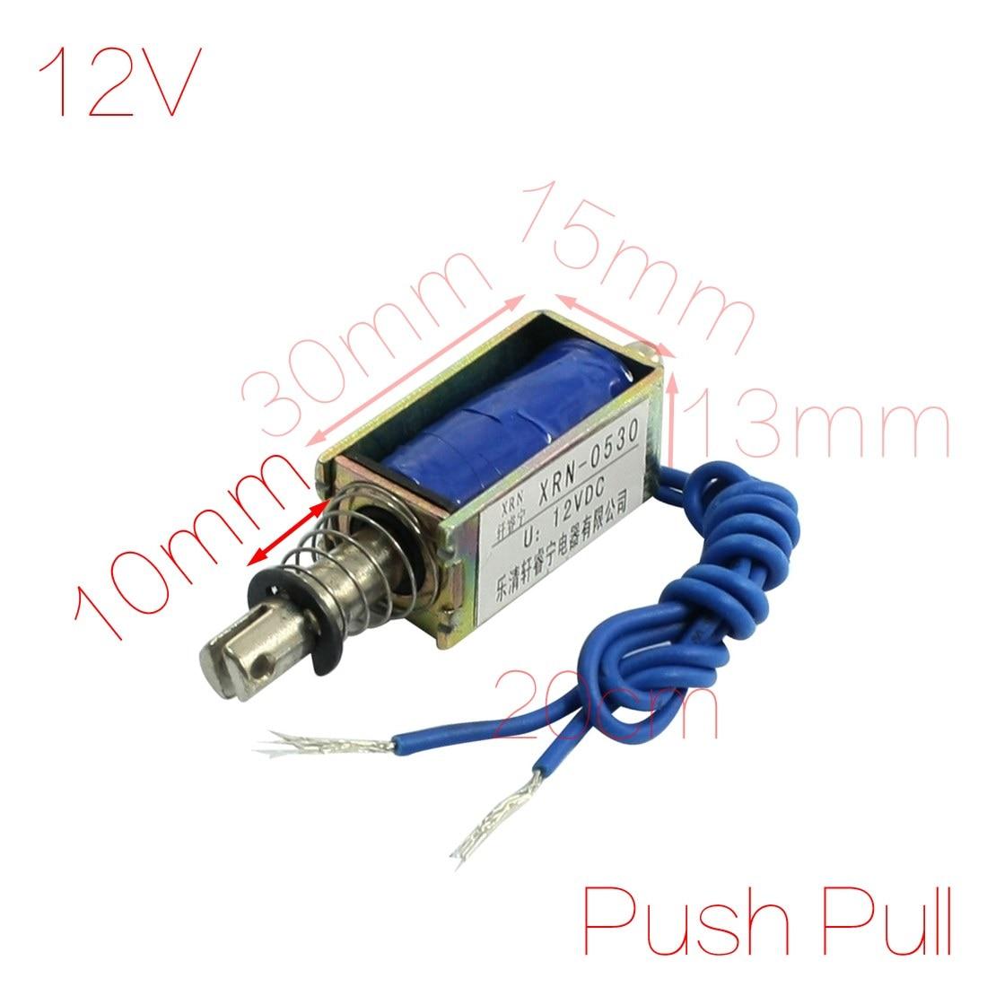 DC 24V 1,5A Open Frame Push-Typ Solenoid Elektromagneten 1kg Force DE