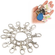 25pcs/Lot MINI Metal Lanyard Hook Swivel Snap For Handbag Portable Lobster Clasp Clips Bag Accessories Wholesale Buckle Hook(China)