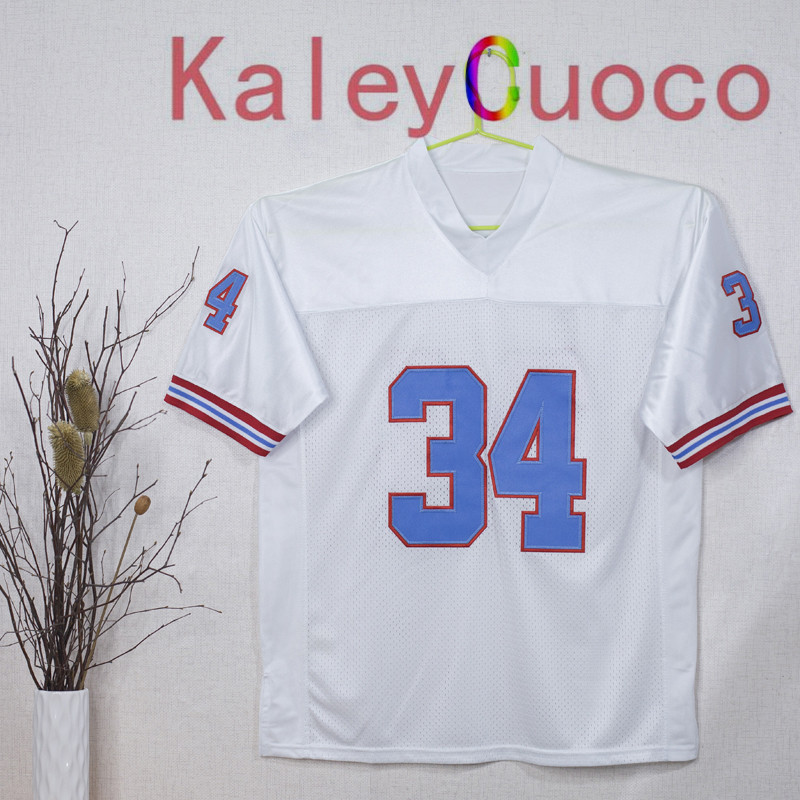 Retro star #34 Earl Campbell Embroidered Throwback Football Jersey M&N 48 50 52 54 56 Jerseys(China (Mainland))
