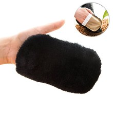 Glove Shoe Brush Cleaning Polishing Faux Soft Wool Brush For Leather Shoes Elastic Strap Shoe Care Wipe Leather Product Cleaner