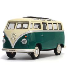 1:24 Volkswagen T1 Bus 1950 Alloy Car Model Metal Classic Car With Pull Back Flashing For kids Toy Birthday Gift Free Shipping