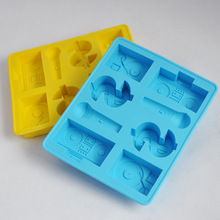Hoomall DIY DJ Hip Hop Trend Kitchen Tools Silicone Baking & Pastry Tools Chocolate Mold Candy Maker Ice Cube Jelly Moulds(China)