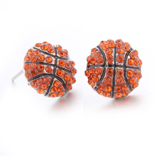 Lureme Fashion Crystal Rhinestone Post Stud Earring Silver Bling Basketball Baseball Volleyball Earrings for Women Girl er005453(China)