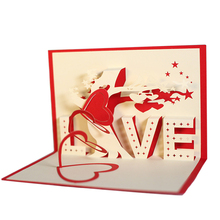 Creative LOVE Heart Tree 3D Pop Up Paper Greeting Card Festival Birthday Gift(China)