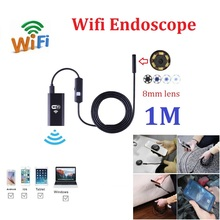 Buy Zjuxin 1M WIFI Iphone Endoscope HD 8mm Lens 720P Borescope Waterproof Camera softwire 6 led mini wifi camera for $17.98 in AliExpress store