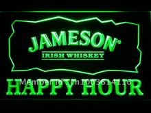 659 Jameson Irish Whiskey Happy Hour Bar LED Neon Sign