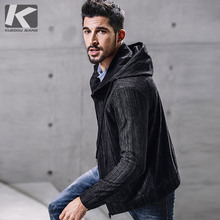 KUEGOU Men Jackets 2017 New Hot Sale Man Hooded Thin Jackets Male Hoodie High Quality MEN Windbreaker 6394(China)