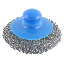 UXCELL Household Plastic Handheld Metal Wire Ball Pot Pan Bowl Cleaner Cleaning Brush brush | cleaning(China)