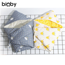 90x90cm Cotton Newborn Baby Swaddle Infant Blanket Thick Warm Wraps Colorful Prints Baby Sleep Swaddling Bedding Accessories(China)