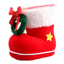 Big Christmas Decorations Flocking Boots Socks Creative Gift Box of Candy Decorative Supplies