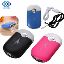 Mini USB Air Conditioner Refrigeration Cooling Fan Three Colors Portable Handheld Bladeless Cooling Fan(China)