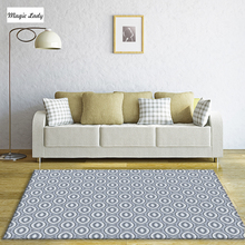 Carpet For Living Room Bedroom Pattern Pentagons Texture Shapes Decorations Art Geometrical Abstract Floral Circles Beige Brown