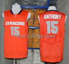 #15 Carmelo Anthony Throwback Jersey Retro Basketball Jersey New Material Top quality embroidery jersey