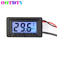 Celsius/Fahrenheit Digital Thermometer Temperature Meters Gauge C/F Drop Shipping Support(China)
