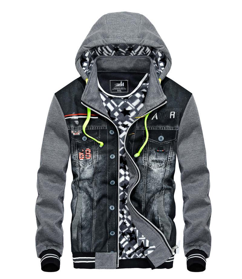 Men's casual hoodie, jackets men men's casual hoodie and hoodie jacket with headphones on men's winter cotton-padded sleeves 20