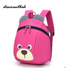 NEW Cute Little Bear Children's Backpack Lovely cartoon animal School Bags For Boys Girls kindergarten bag baby bags 4 colors(China)