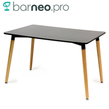 94924 Barneo T-10 MDF Interior Dinner Table Bar Table Kitchen Furniture Dining Table Black free shipping in Russia