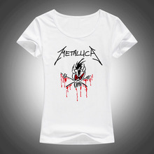 Buy 2017 Classic Heavy Metal Metallica Rock T Shirt Women Tops Short Sleeve Lycra Cotton Fashion Casual Tees Camisetas F65 for $5.99 in AliExpress store