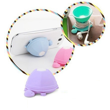 Cute Phone Holder Stand Silicone Turtle Earphone Headphone Winder Cable For I-phone Sam-sung X-iaomi Candy Color Random!
