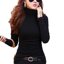 Buy Blusas Femininas 2018 New Fashion Women Clothing Blouses Shirts Solid High Collar Turtleneck Long Sleeve Tops bottoming shirt for $5.75 in AliExpress store