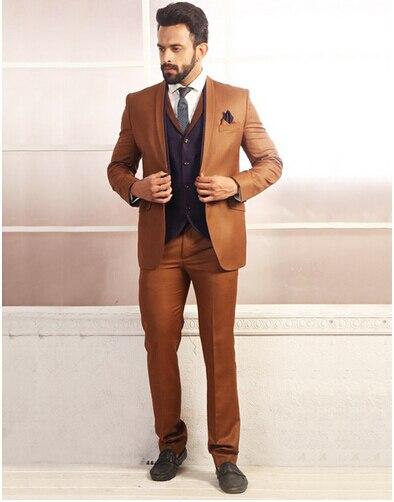2017-Latest-Jacket-Pants-Designs-Brand-new-Groomsmen-Brown-Tuxedo-Mens-Suit-Wedding-suits-for-men
