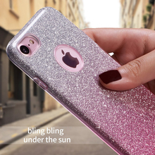 Buy OLOEY Funda iPhone 8 7 6 6S Plus X Case 3 Layer Glitter Bling Soft TPU Silicone Cover Coque iPhone 8 7 6 Plus 5 5S SE X for $3.47 in AliExpress store