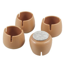 X Autohaux 4 Pcs 40Mm Dia Brown Wool Felt Base Chair Table Foot Soft Cover Guard