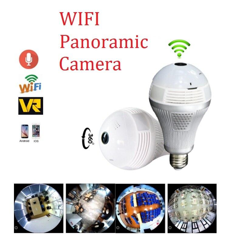 360 degree FishEye smart home Mini wifi CCTV Camera 1.3MP Home Security WiFi Panoramic Camera Wireless Bulb IP Camera<br>