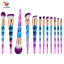 12Pcs unicorn Professional Makeup Brushes Set Beauty Cosmetic Eyeshadow Lip Powder Face Pinceis Tools Kabuki Brush Kits