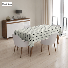 Indian Table Cloth Various Arrow Patterns Retro Background Ethnic Tribal Tools Boho Art Beige Black 145x120 cm / 145x180 cm