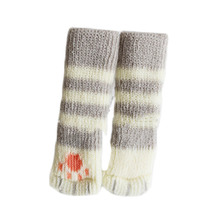 4 Pcs/set Knit Home Flower Floor Protector Leg Sleeve Table Chair Foot Cover Socks HG4118(China)