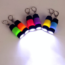 Only 22g 0.3W 1 Mode Mini USB LED Keychain Flashlight Rechargeable Battery Key Chain Keyring Light Lamp Torch 10 Colors(China)