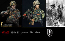 1/10  Resin Figure Model Kit  WWII German 12th SS panzer Division 2 FIGURES Unassambled  Unpainted