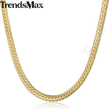 Trendsmax 6MM Gold Filled Snake Chain Mens Necklace Wholesale Dropship Fashion Jewelry GN399(Hong Kong)